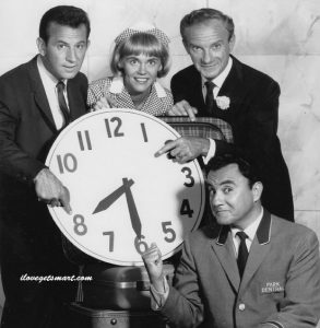 The cast of The Bill Dana Show, including Don Adams, Maggie Peterson, Jonathan Harris and Bill Dana.