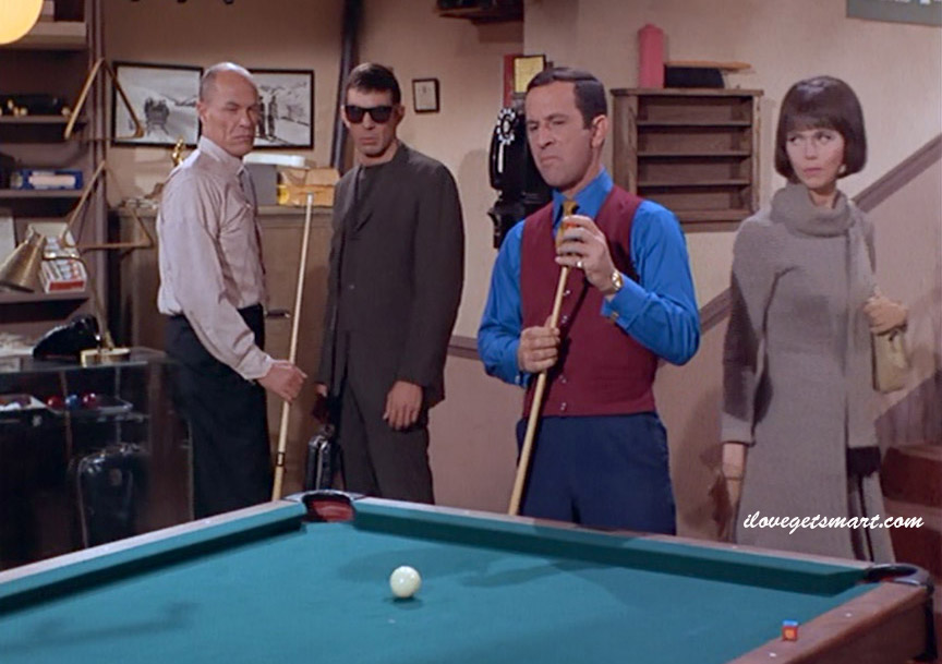 The one moment we see Leonard Nimoy in the same frame as Don Adams and Barbara Feldon.