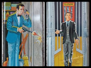 The sides of the box include the closet scene from Mr. Big and a representation of the opening door sequence.
