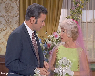No Herbert, you don't get to join in on the brawl. Attending the Smart's wedding were Mace Neufeld and Dorothy Adams.