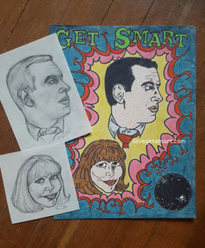 The original sketches and art that make up the ilovegetsmart.com site logo