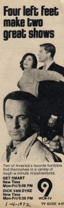 A TV Guide ad from 1972 when Get Smart aired in syndication on New York's WOR-TV.